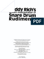 Buddy Rich Snare Drum Rudiments