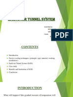 Earth Air Tunnel System Ppt