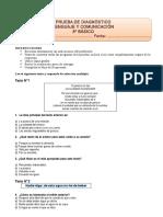 Diagnóstico 8° básico