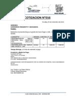 MODELO DE COTIZACION DE DESFRIBILADOR