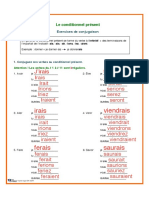 Le Conditionnel Present Exercices Et Corrige