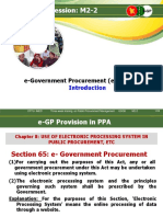 E-Government Procurement System E-GP Intro