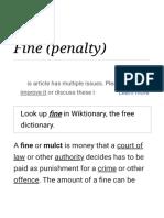 Fine (Penalty) - Wikipedia