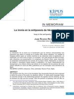 Reyes- La Ironía en La Antipoesía de Nicanor Parra (Kipús, No. 43, Ene-jun 2018)