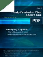 Materi 2 Pemberian Obat secara Oral.ppt