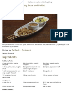 Satay Chicken With Satay Sauce and Pickled Pineapple Recipe