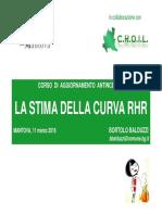 Atti Balduzzi - La Stima Della Curva RHR