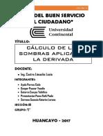 Calculo de Las Sombras Aplicando La Derivada ..