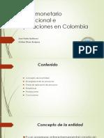 Fondo Monetario Internacional e Implicaciones en Colombia