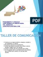 TALLER DE PENSAMIENTO Y LENGUAJE