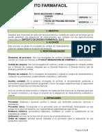 Pr-001 Procedimiento de Selección y Compras de Medicamentos