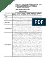Formulário de Fichamento de Texto