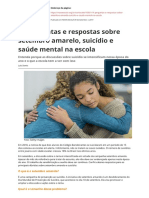 14 Perguntas e Respostas Sobre Setembro Amarelo Suicidio e Saude Mental Na Escolapdf
