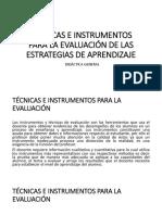 Técnicas e Instrumentos Para La Evaluación
