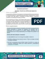Evidencia 7 Agenda de Trabajo Solucion de Conflictos Para Equipos de Trabajo Interdisciplinarios
