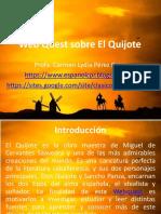Webquest sobre El Quijote
