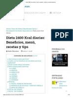 Dieta 2400 Kcal Diarias_ Menú Completo, Recetas y Recomendaciones