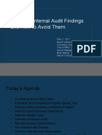Common Internal Audit Findings and How to Avoid Them 05-2-11