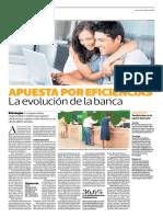 La apuesta por eficiencia La evoluacion de la banca
