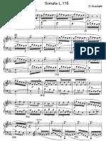 Scarlatti Sonate Per Pianoforte (115)