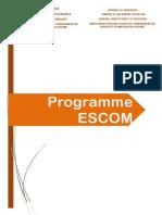 Programme ESCOM(1)