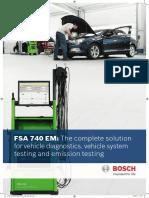 Bosch FSA740 Engine Analyser