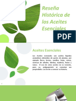 Reseña Historica de Los Aceites Esenciales