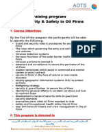 Training program The Security & Safety in Oil Firms