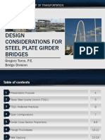 Design Considerations for Steel Plate Girder Bridges