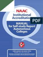 RAF Autonomous Institution Manual