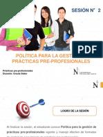 SESIÓN 2 Importancia de Registro de Prácticas Pre Profesionales 20192