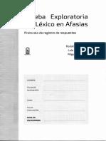 cuadernillo de registro PELA