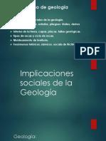 Implicaciones sociales de la Geología