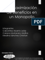 Maximización de Beneficios en Un Monopolio