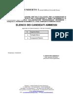 Elenco Candidati Ammessi PDF