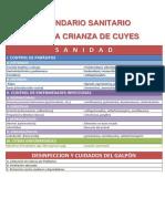 Modelo de calendario  sanitario en crianza de cuyes .