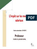 Support L_impôt Sur Les Revenus Salariaux