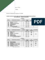 Matriz Curricular - Curso Engenharia Elétrica