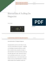 Bienvenido a Tu Blog de Negocios