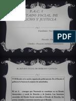 Estado Social de Derecho y Justicia
