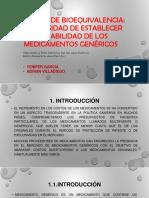 bioequivalencia en medicamentos genericos