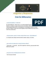 Preguntas y Respuestas Club de Millonarios