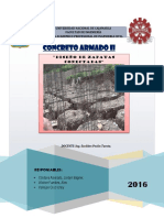 Informe de Concreto Zapatas Conectadas