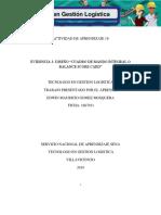 """Evidencia 3 Diseño """"Cuadro de Mando Integral o Balance Score Card"""""""