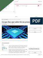 Lo que hay que saber de un procesador - Tecnologías - La Jornada