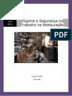 Higiene e Segurança No Trabalho Na Restauração