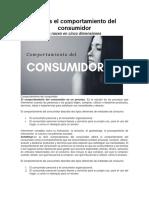 Qué Es El Comportamiento Del Consumidor