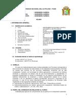 Syllabus - Draft - Instrumentacion Para Control Automatico de Procesos 2019 - Sem II