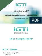 Aulas Capítulo 1 - Introdução - Conceitos e Principais Termos ETL