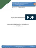 Mapa conceptual  Generalidades y componentes básicos del lenguaje C++